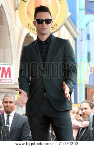 LOS ANGELES - FEB 10:  Adam Levine at the Adam Levine Hollywood Walk of Fame Star Ceremony at Musicians Institute on February 10, 2017 in Los Angeles, CA