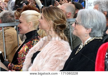LOS ANGELES - FEB 10:  Gwen Stefani, Behati Prinsloo at the Adam Levine Hollywood Walk of Fame Star Ceremony at Musicians Institute on February 10, 2017 in Los Angeles, CA