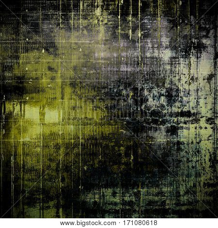 Ancient texture or damaged old style background with vintage grungy design elements and different color patterns: yellow (beige); gray; purple (violet); cyan; black