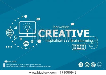 Creative Related Words And Marketing Concept. Infographic Business.