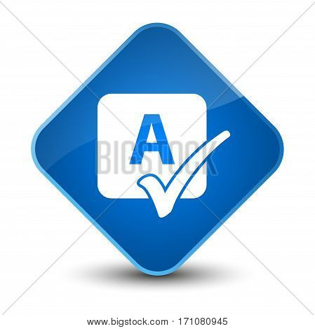 Spell Check Icon Special Blue Diamond Button