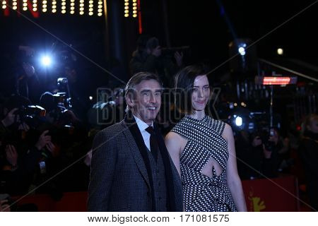 Steve Coogan, Rebecca Hall attend the 'The Dinner' premiere during the 67th Berlinale International Film Festival Berlin at Berlinale Palace on February 10, 2017 in Berlin, Germany.