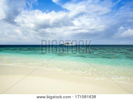 Tropical Island Landscape, Maldives