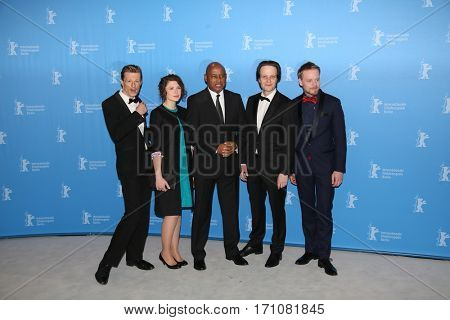 Raoul Peck, August Diehl attend the 'The Young Karl Marx' (Le jeune Karl Marx) photo call during the 67th Berlinale Festival Berlin at Grand Hyatt Hotel on February 12, 2017 in Berlin, Germany.