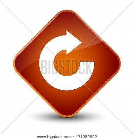 Reply Arrow Icon Special Brown Diamond Button