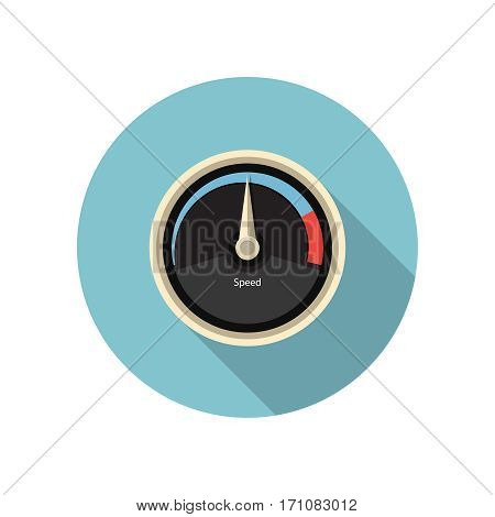 Speed gauge icon. Speedometer icon. Vector illustration