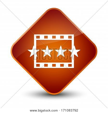 Movie Reviews Icon Special Brown Diamond Button
