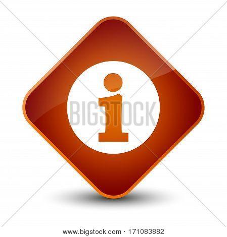 Info Icon Special Brown Diamond Button