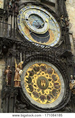 Prague Astronomical Clock (prague Orloj), Old Town Hall Tower.