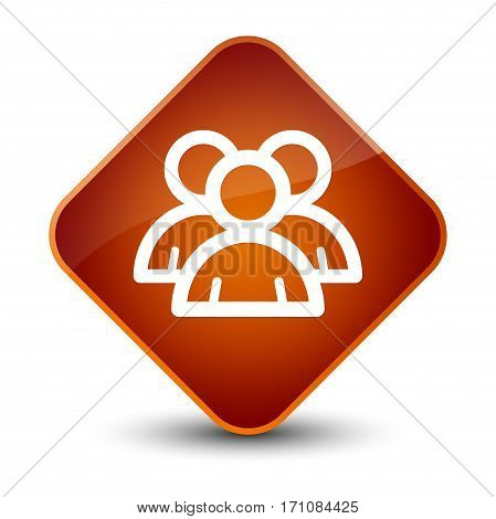 Group Icon Special Brown Diamond Button