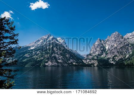 Image of Jenny Lake in Grand Teton National Park, Wyoming, USA.