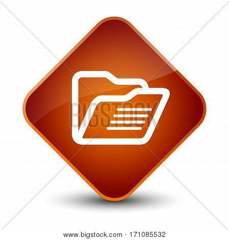 Folder Icon Special Brown Diamond Button