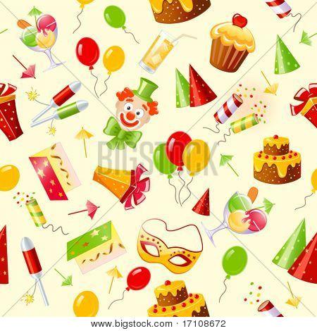 birthday seamless background