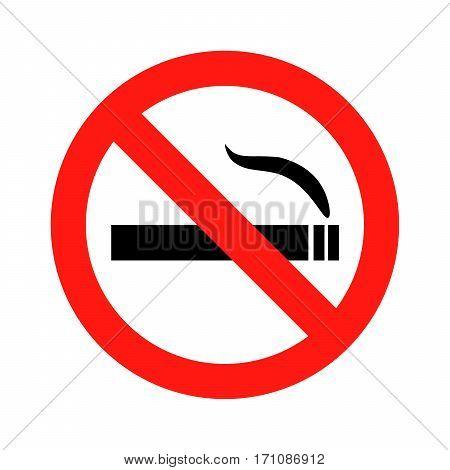 No smoking sign icon vector illustration eps