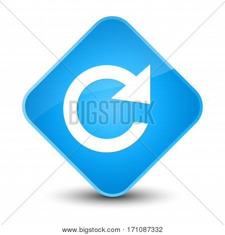 Reply Rotate Icon Special Cyan Blue Diamond Button