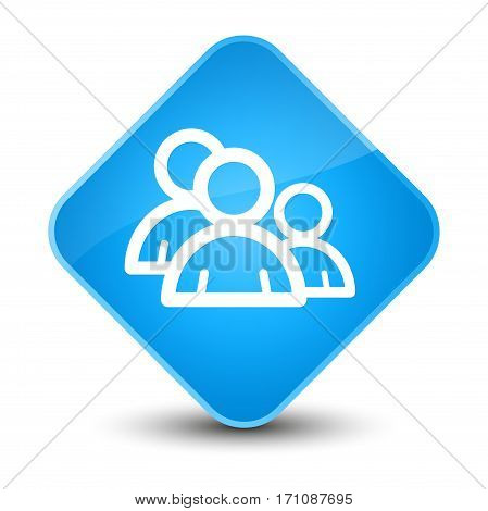 Group Icon Special Cyan Blue Diamond Button