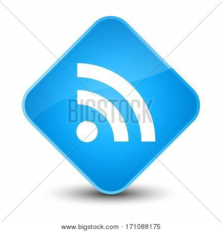 Rss Icon Special Cyan Blue Diamond Button