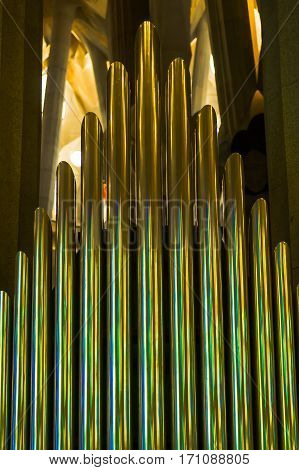 Great organ in sagrada familia barcelona spain