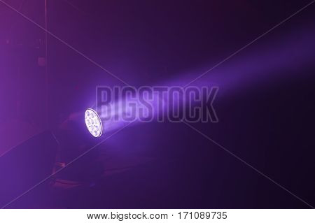 Stage Led Spot Light With Purple Beam
