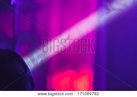 Ray Of Scenic Light Over Blurred Smoke