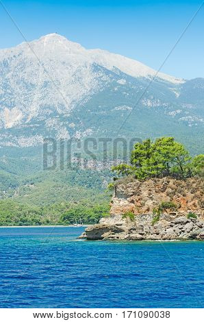 The panoramic view on Mountain Tahtali Dagi. Turkey.