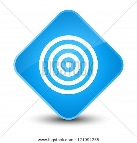 Target Icon Special Cyan Blue Diamond Button