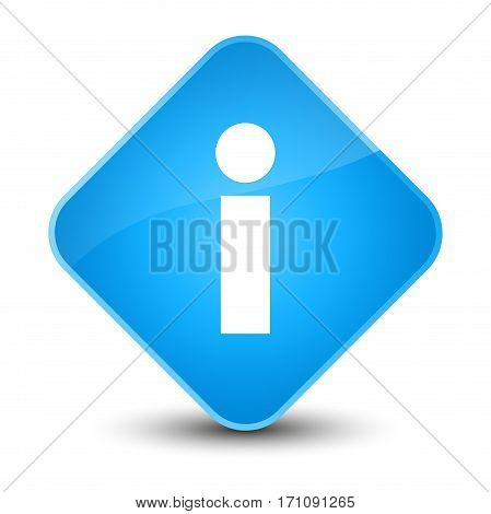 Info Icon Special Cyan Blue Diamond Button