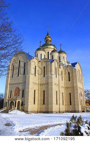 Orthodox church is built in 21 centuries. Cherkassy, Ukraine.