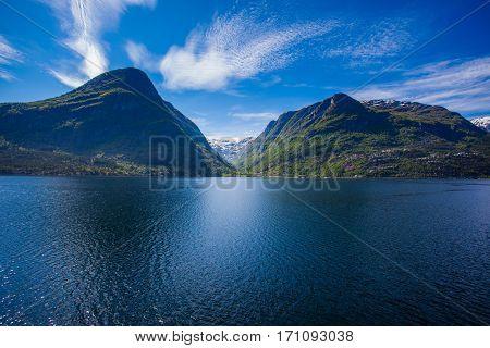 West Norwegian Fjord Landscape