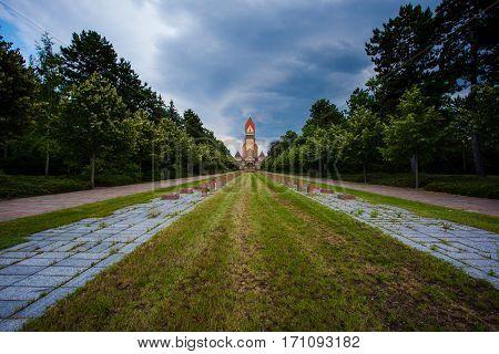 Sudfriedhof, The Biggest Graveyard In Leipzig, Germany