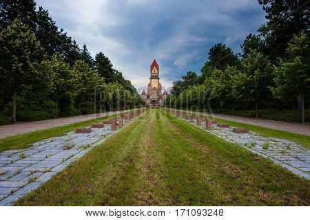 Sudfriedhof, The Biggest Graveyard In Leipzig, Germany