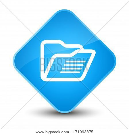 Folder Icon Special Cyan Blue Diamond Button