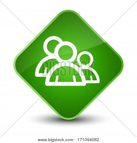 Group Icon Special Green Diamond Button