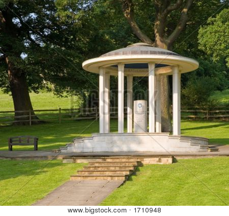 Magna Carta Memorial At Runnymede