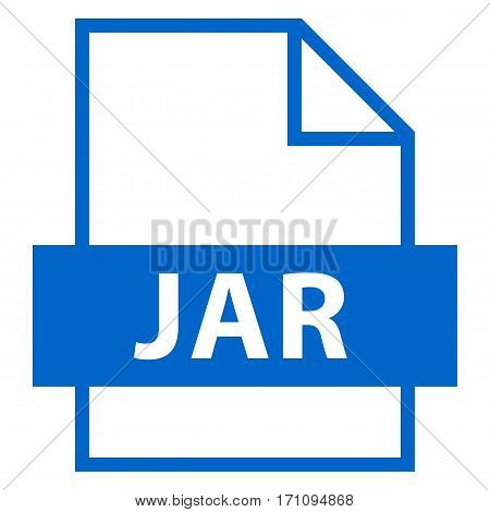 . Filename extension icon JAR Java Archive in flat style. Quick and easy recolorable shape. Vector illustration a graphic element.