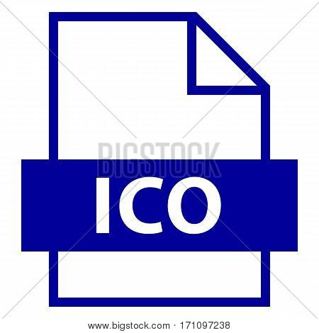 Use it in all your designs. Filename extension icon ICO image file format for computer icon in flat style. Quick and easy recolorable shape. Vector illustration a graphic element.