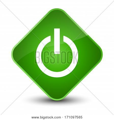 Power Icon Special Green Diamond Button