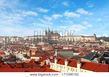 a beautiful View of the Prague city