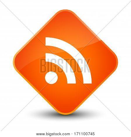 Rss Icon Special Orange Diamond Button