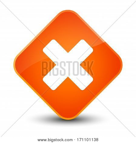 Cancel Icon Special Orange Diamond Button