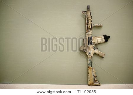 Assault Rifle, Painted In Sand Color.