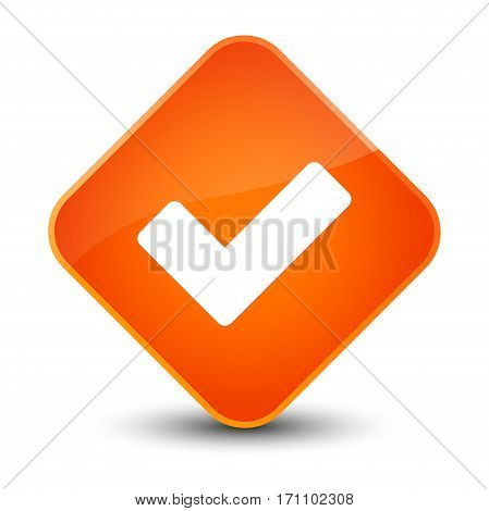 Validate Icon Special Orange Diamond Button
