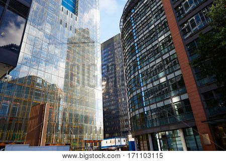 London financial district street Square Mile England UK