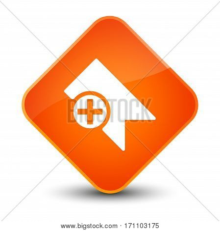 Bookmark Icon Special Orange Diamond Button