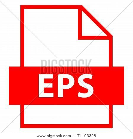 Use it in all your designs. Filename extension icon EPS Encapsulated PostScript in flat style. Quick and easy recolorable shape. Vector illustration a graphic element.