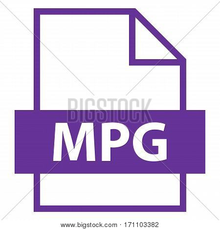 Use it in all your designs. Filename extension icon MPG MPEG-1 standard for lossy compression of video and audio in flat style. Vector illustration a graphic element.