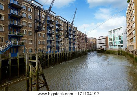 London Butlers Wharf and buildings at England