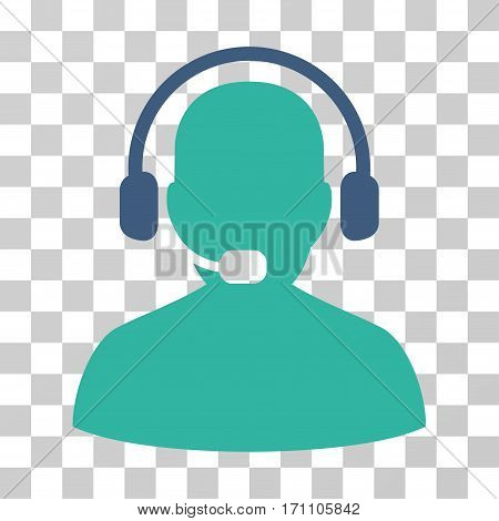 Receptionist icon. Vector illustration style is flat iconic bicolor symbol cobalt and cyan colors transparent background. Designed for web and software interfaces.
