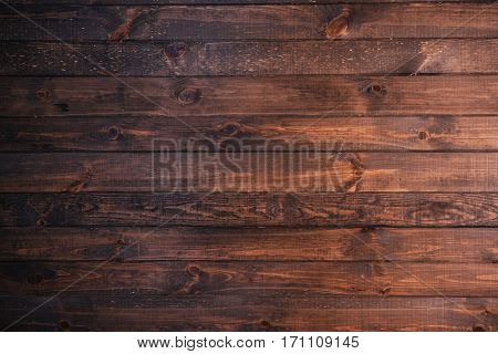 Wooden Board Background. Beautiful dark brown wood structure.
