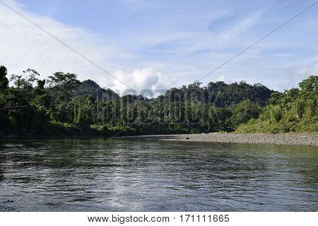 Paseo en lancha por el Rio Curaray, Napo. Ecuador